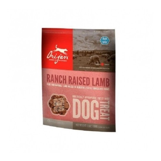 Orijen -Treats Ranch Raised Lamb -Snacks y huesos