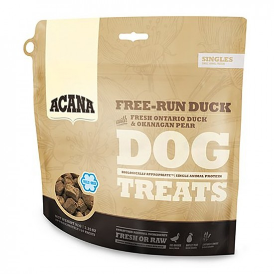 Acana -Snack Free-Run Duck -Snacks y huesos