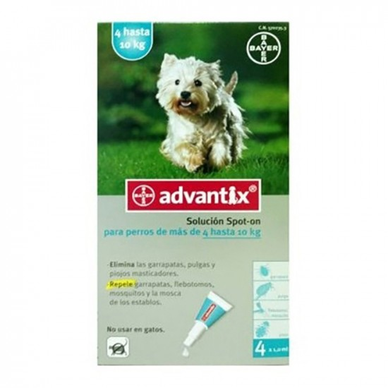 Bayer -Advantix 4-10 KG -Antiparasitarios