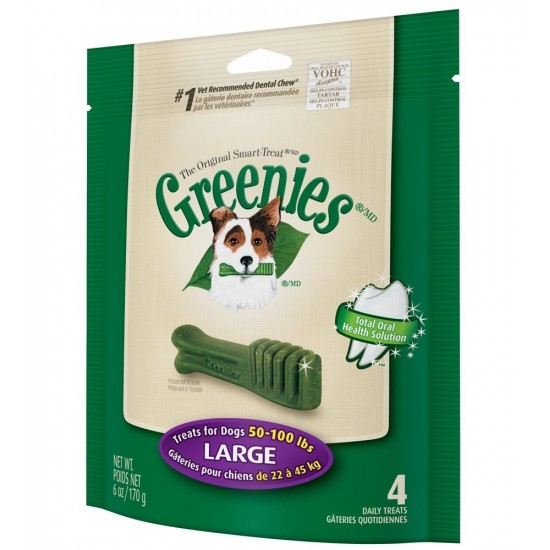 -Greenies Large -Snacks y huesos